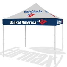 10X10 Custom LOGO Graphics EZ Pop Up Canopy Replacement Top Polyester Cover