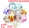 "10/50 12"" Confetti Latex Balloons Helium B-DAY Party Wedding Baby Shower Large"