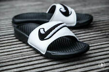 Nike Benassi JDI Chenille Men's Slides Black-Summit White AO2805-001 Sandals NEW
