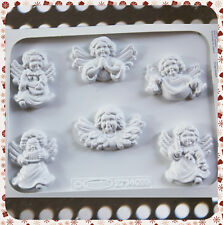 6 STAMPI ANGIOLETTI KNORR PRANDELL FORMINE MOLDS ANGELI CON ALI NATALE ANGELS