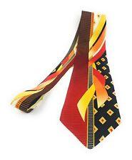 VITALIANO PANCALDI Tie Multicolor Abstract Red Yellow Luxury Italian Necktie