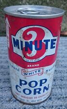 Vintage National Oats Company, 3 Minute, Tender White Hulless Popcorn Tin/Can