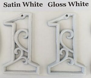 Any Cast Iron Number 0 - 9 Hand Painted MANY COLORS Street Address House Numbers