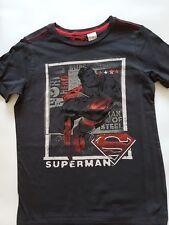 M&S Superman Motif Black T-shirt top Ages 10 12  BRAND NEW LAST FEW!