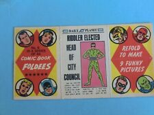 OLD CARD 1966  COMIC BOOK FOLDEES MARVEL  DAILY PLANET