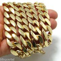 "Big 33"" Long Miami Cuban Curb Link Chunky Gold Finish 15 mm Wide Men Bling Chain"