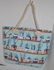 Succulent Cactus Cacti Plant Shoulder Travel Tote Bag NEW