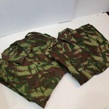 (2) Unused Vintage M-47 Portuguese Angola Wars Lizard Camo Pat. Hbt Sadf Shirts