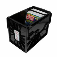 5 BCW Magazine & Document Bins - Black Plastic Strong Durable Storage Box