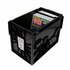 1 BCW Magazine & Document Bin - Black Plastic Strong Durable Storage Box