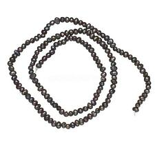 """1 Strand 2-3mm Black Natural Freshwater Pearl Loose Beads DIY Jewelry 15"""""""