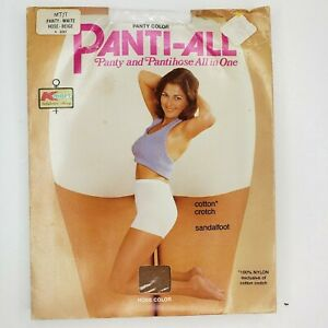 Kmart Panti-all Panty & Pantyhose All In One Beige Sandlefoot MT/T Medium Tall