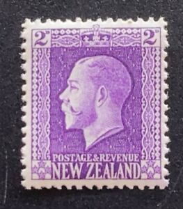 New Zealand Stamp 1915 KGV Recess Print 2d Violet - UHM
