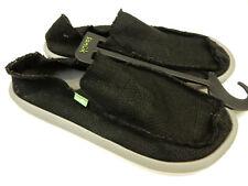 Sanuk Mens Sidewalk Surfers Yew-Knit Black Charcoal Size 9