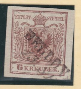 Ö 1850 ANK 4 die 6 Kreuzer sauber gestempelt