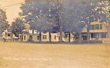 Brimfield MA Main Street North Side Store & Post Office RPPC Postcard