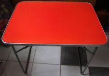 Mini table pliante ( rouge ) de camping , combi,vintage année 1960