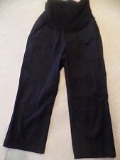 A PEA IN THE POD MATERNITY CAPRI PANTS black WORK OR CASUAL small 4/6 cropped