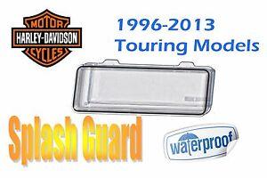 Clear Single Din Radio Cover Marine Waterproof Splashguard Fits Harley Davidson