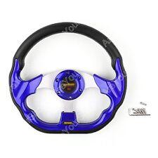 Universal 320mm Car Sport Volant de direction PU Cuir Sport Auto Blue