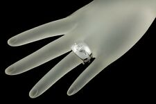 14k White Gold Men's Diamond Solitaire Ring 1.30 ct, I Color, I1 Clarity Size 7