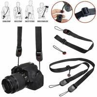 Quick Rapid Shoulder Sling Belt Black Neck Strap for Camera SLR/DSLR Nikon Canon