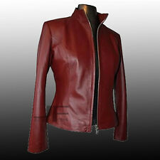 Dr. Who Martha Simple and Sophisticated Sheephide Leather Jacket