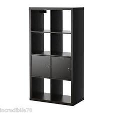 IKEA KALLAX Scaffale libreria con ante, marrone- nero EX EXPEDIT