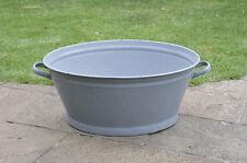 62 cm - old enamelled enamel washing bowl shabby bath chic -  FREE POSTAGE