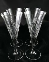 Four Lovely Vintage Fine Lead Crystal Champagne Flutes Prosecco martini Glasses