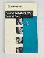 Vintage 1995 Packard Bell Sound 144AM/AMSP Sound Card User's Guide Manual Book
