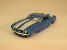 MODEL MOTORING BLUE W/WHITE STRIPES '69 CAMARO Z-28 SHELL ~ NEW~FITS AURORA TJET