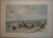 1872 Bryant print BEACH AT NEWPORT, RHODE ISLAND (#85)