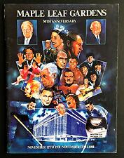 1981 50th Anniversary Program Opening Night Maple Leaf Gardens NHL Hockey VTG