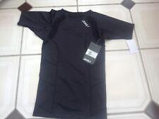 2XU Mens Compression MA2307a Short Sleeve Top,Small; Colour Black/Black,RRP $100