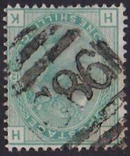 GB Used Abroad in PORTO PLATA DOMINICAN REP. C86. 1/- green. Excellent /*RARE*!