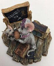 Boyds Bears Resin MISS STILTON W/ RHODES Critter Co Mouse Teacher 2E 36651