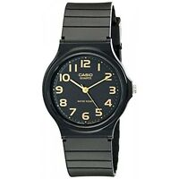 Casio Classic Men's Quartz Gold-Tone Index Black Resin Band 35mm Watch MQ24-1B2