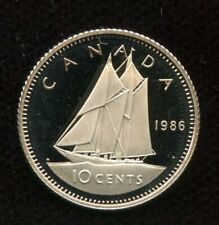 1986 Canada 10 cents Proof Dime Coin - Nice Heavy Cameo