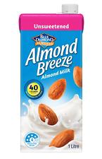 Almond Breeze Unsweetened Almond Milk (8x1L Cartons)