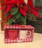 New Rae Dunn Red Reindeer Snacks Cellar & Cocoa LL Mug Christmas 2019