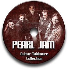 PEARL JAM ROCK GUITAR TAB TABLATURE SONG BOOK ANTHOLOGY SOFTWARE CD LIBRARY