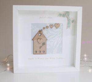 New Home Gift Personalised House Frame Keepsake