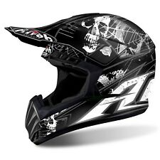 CASCO AIROH SWITCH SCARY CROSS ENDURO MOTARD NERO OPACO GRAFICO TAGLIA XS 53 54