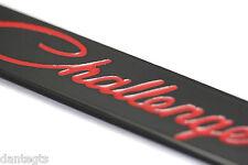 DODGE Challenger Red License Plate Frame Number Tag Black Powder Coated Zinc