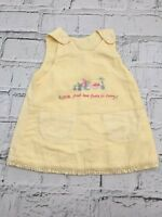 Baby Girl's Mothercare Dress Sleeveless Pinafore Yellow Cotton 0-3 Months