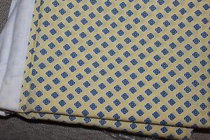 New RALPH LAUREN Vintage Twin Flat Sheet in Yellow/Blue Calico Geometric