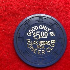 "$5PIONEER CLUB/CALIFORNIA CLUB,UNC,CR#N7437,CODE""G""$25-29,1964,CRISP CHIP"