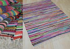 Teppich Fleckerl Fleckerlteppich Multicolor MALMÖ Baumwolle Handweb viele Größen