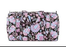 NWT Vera Bradley Large Duffel Bag Travel Tote Alpine Floral Paisley Ships fast
